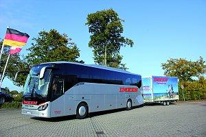 busunternehmen mit fahrradanhänger
